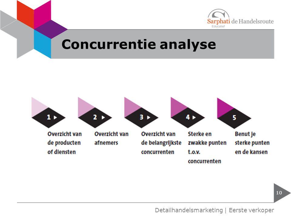 Concurrentie analyse Detailhandelsmarketing | Eerste verkoper