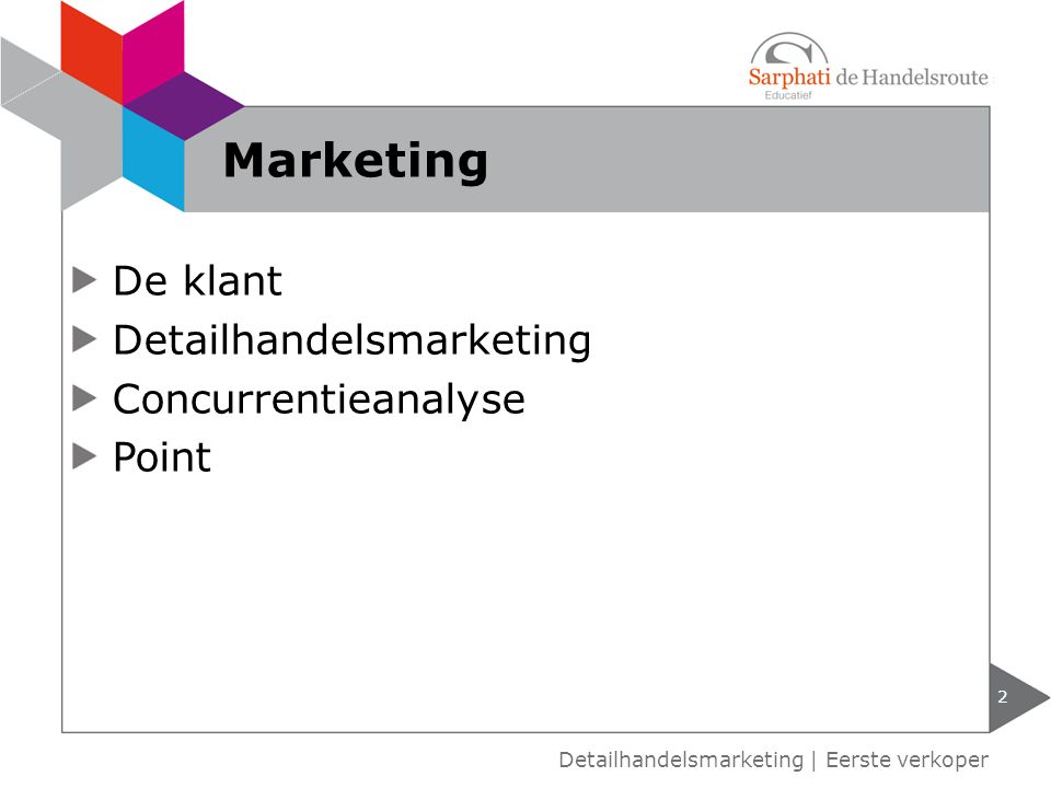 Marketing De klant Detailhandelsmarketing Concurrentieanalyse Point