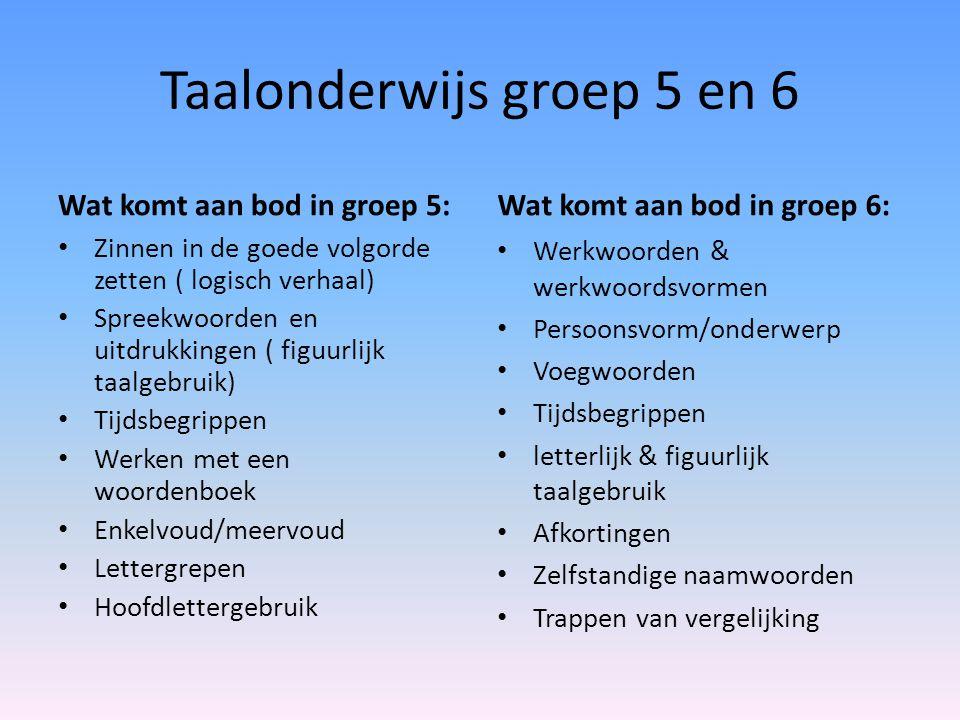 Taalonderwijs groep 5 en 6