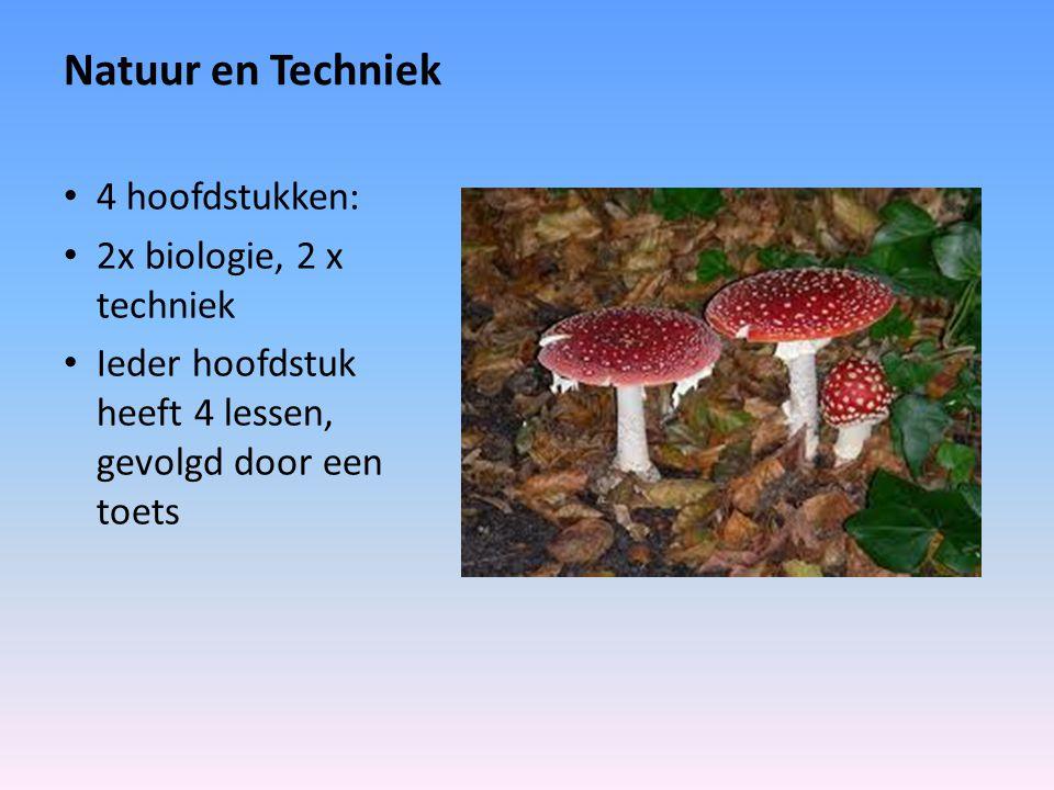 Natuur en Techniek 4 hoofdstukken: 2x biologie, 2 x techniek
