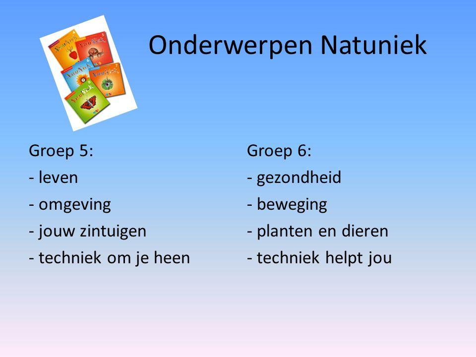 Onderwerpen Natuniek Groep 5: - leven - omgeving - jouw zintuigen