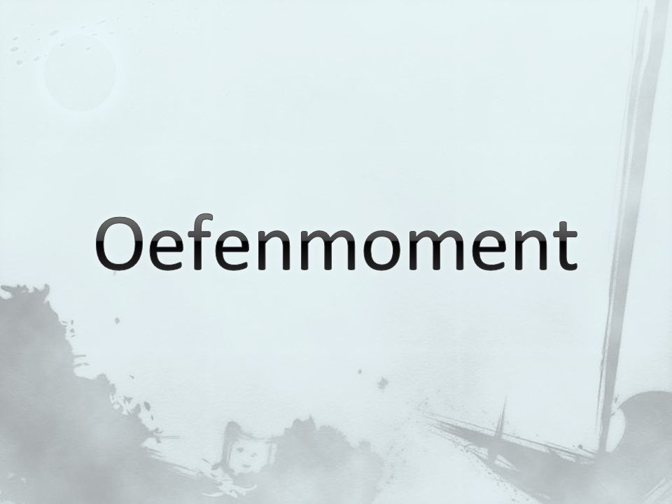 Oefenmoment