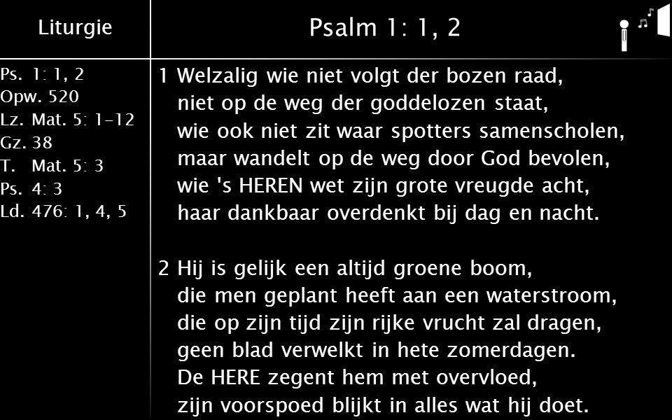 Psalm 1: 1, 2