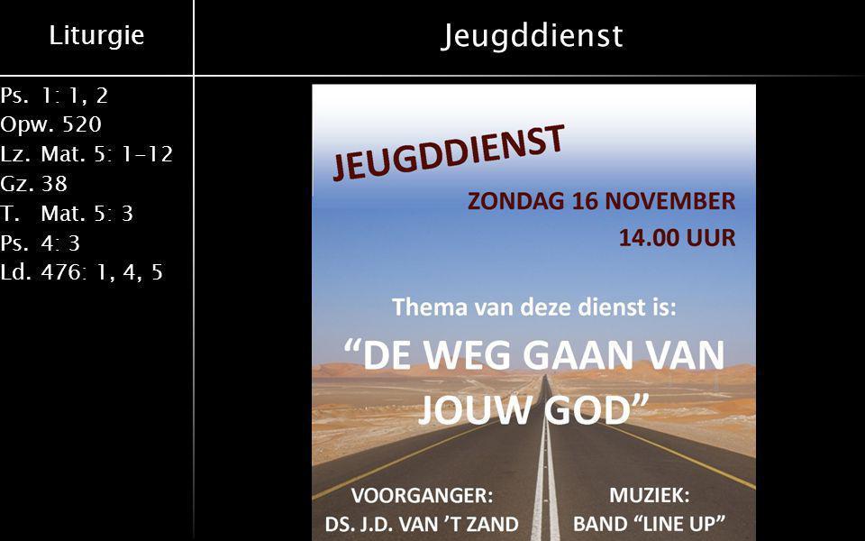 Jeugddienst 16-11-2014 Derk Rouwhorst