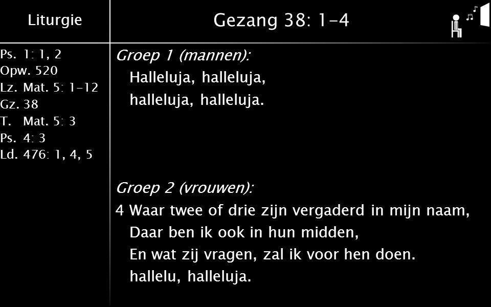 Gezang 38: 1-4