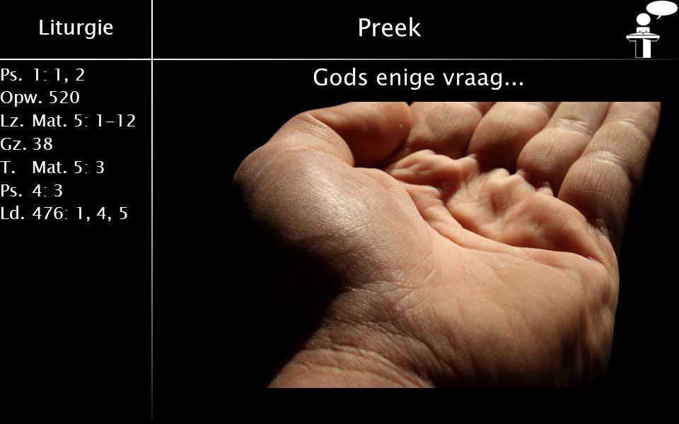 Preek Gods enige vraag...