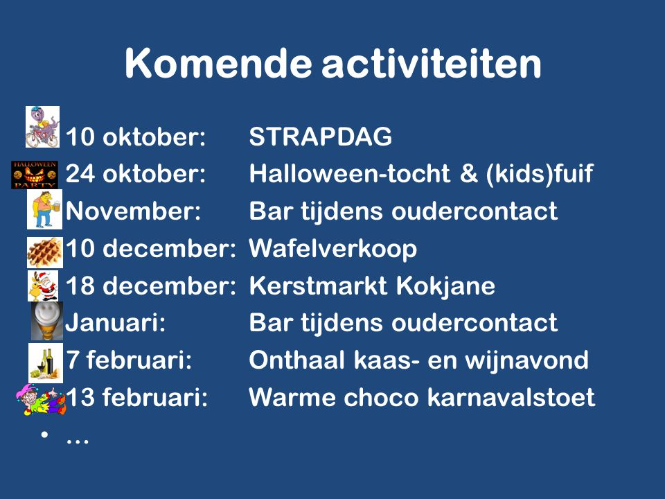 Komende activiteiten 10 oktober: STRAPDAG