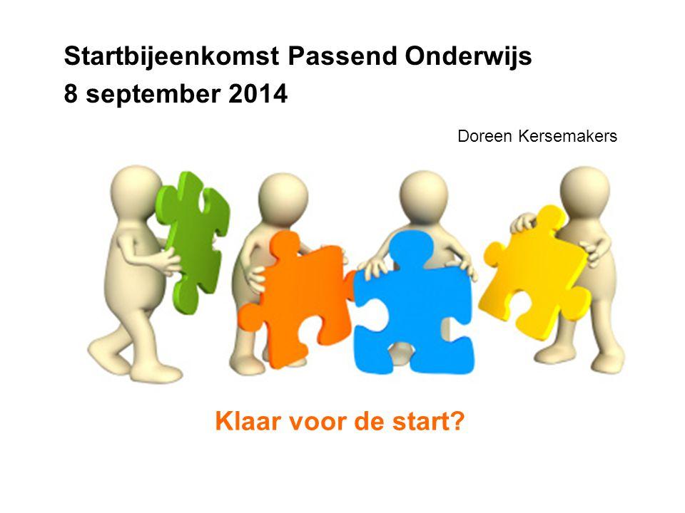 Startbijeenkomst Passend Onderwijs 8 september 2014