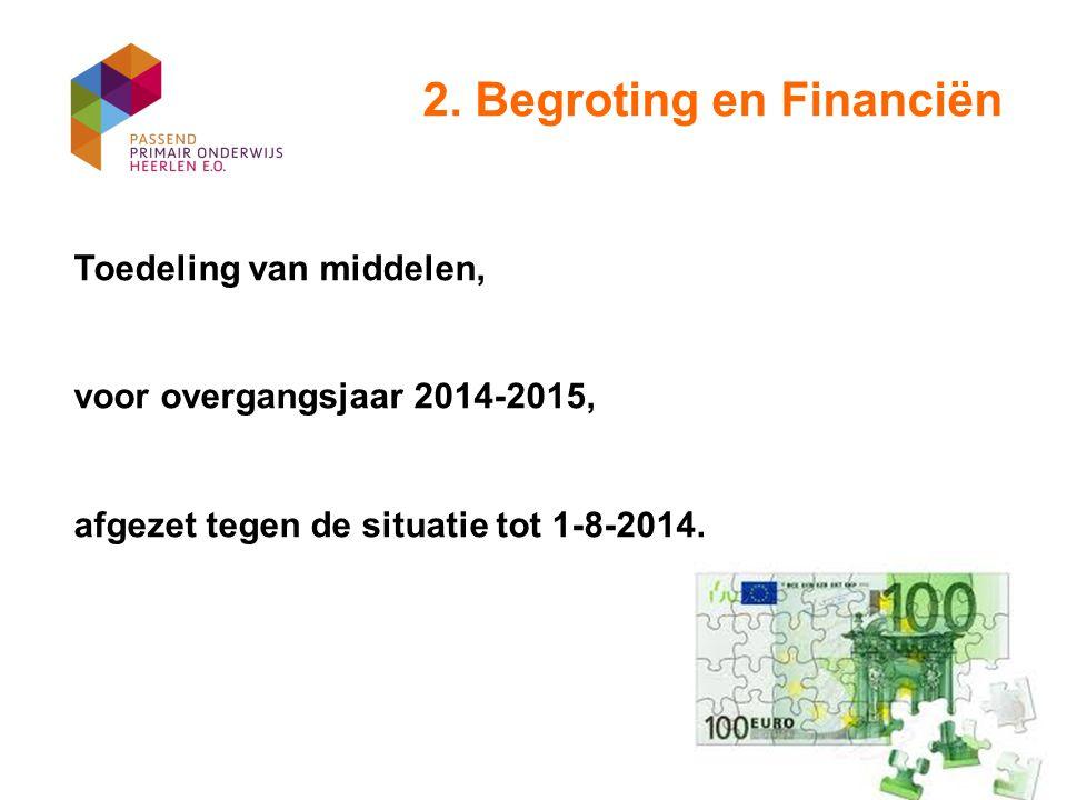 2. Begroting en Financiën