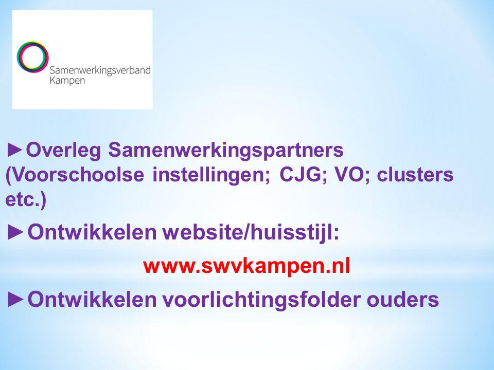 ►Ontwikkelen website/huisstijl: www.swvkampen.nl