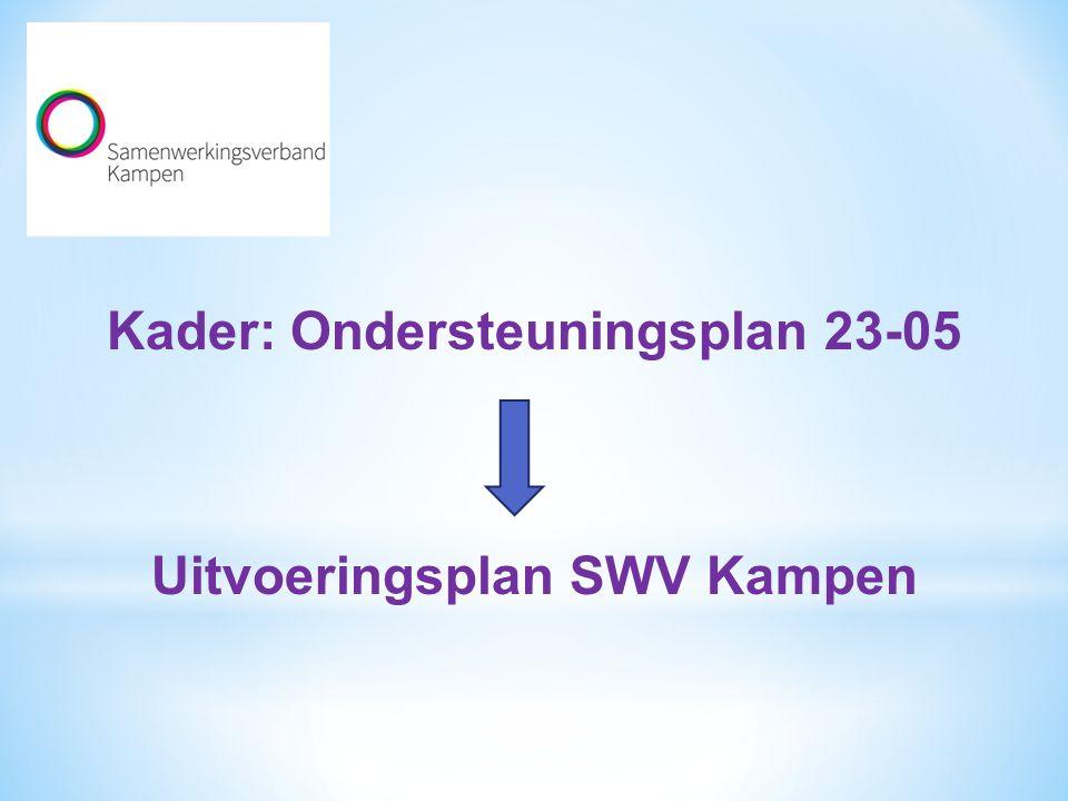 Kader: Ondersteuningsplan 23-05 Uitvoeringsplan SWV Kampen