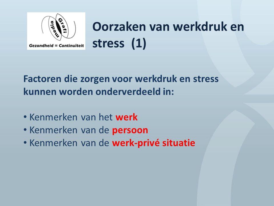 Oorzaken van werkdruk en stress (1)