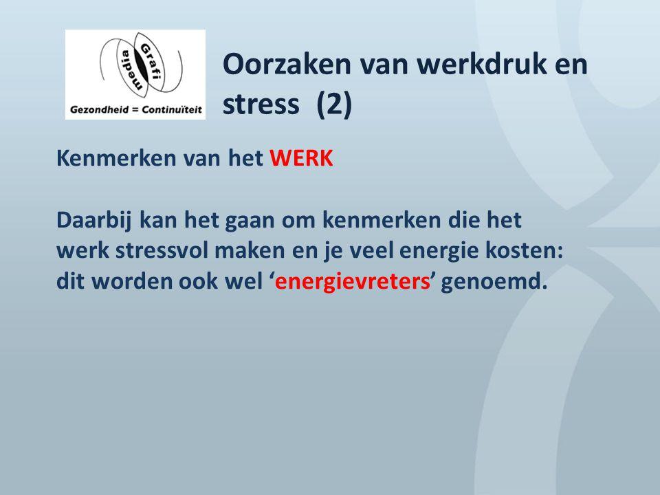 Oorzaken van werkdruk en stress (2)
