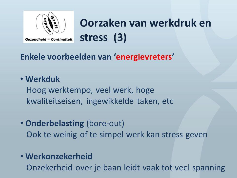 Oorzaken van werkdruk en stress (3)