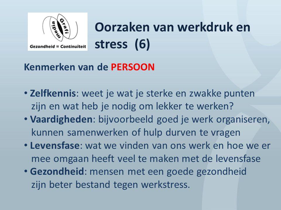 Oorzaken van werkdruk en stress (6)