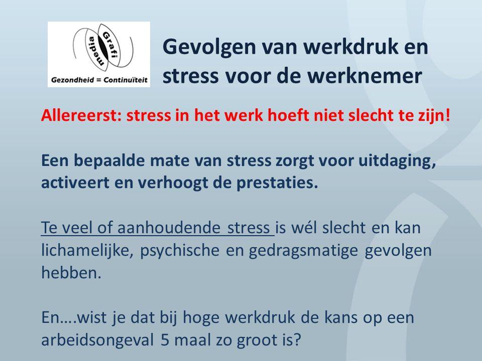 Gevolgen van werkdruk en stress voor de werknemer