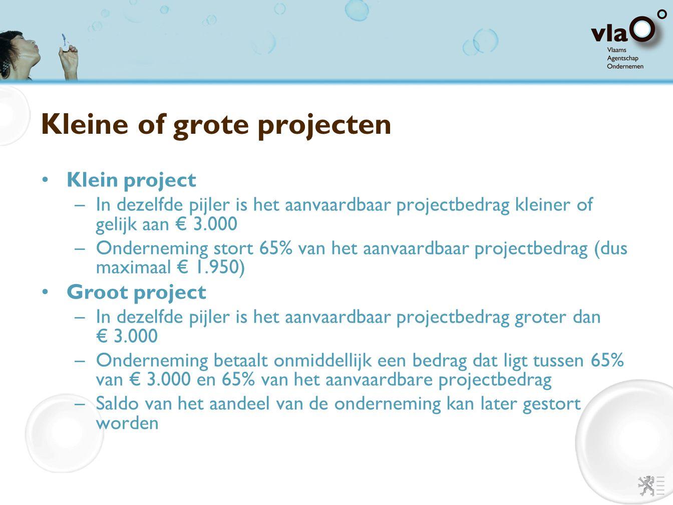 Kleine of grote projecten