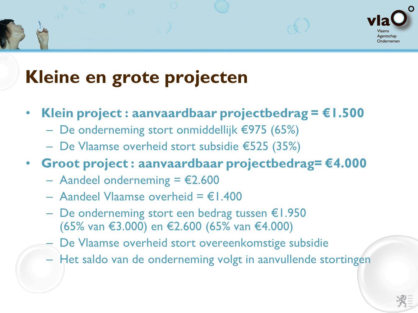 Kleine en grote projecten