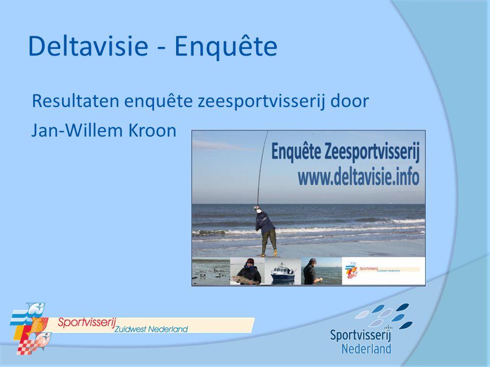Deltavisie - Enquête Resultaten enquête zeesportvisserij door