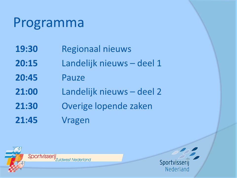 Programma 19:30 Regionaal nieuws 20:15 Landelijk nieuws – deel 1