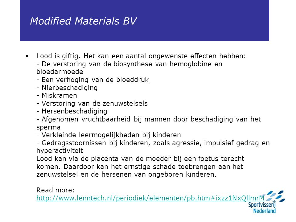 Modified Materials BV