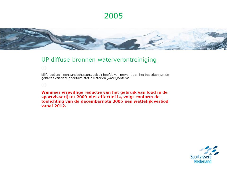 2005 UP diffuse bronnen waterverontreiniging