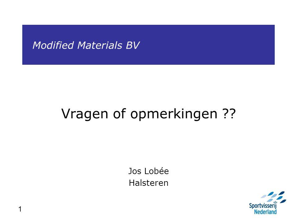 Vragen of opmerkingen Jos Lobée Halsteren