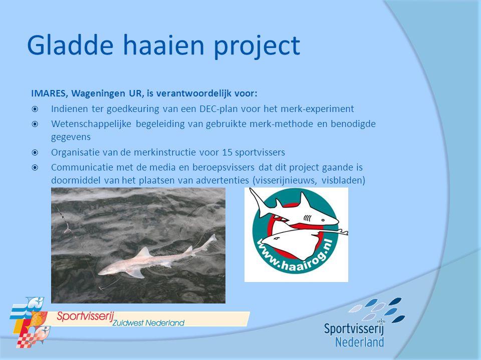 Gladde haaien project IMARES, Wageningen UR, is verantwoordelijk voor:
