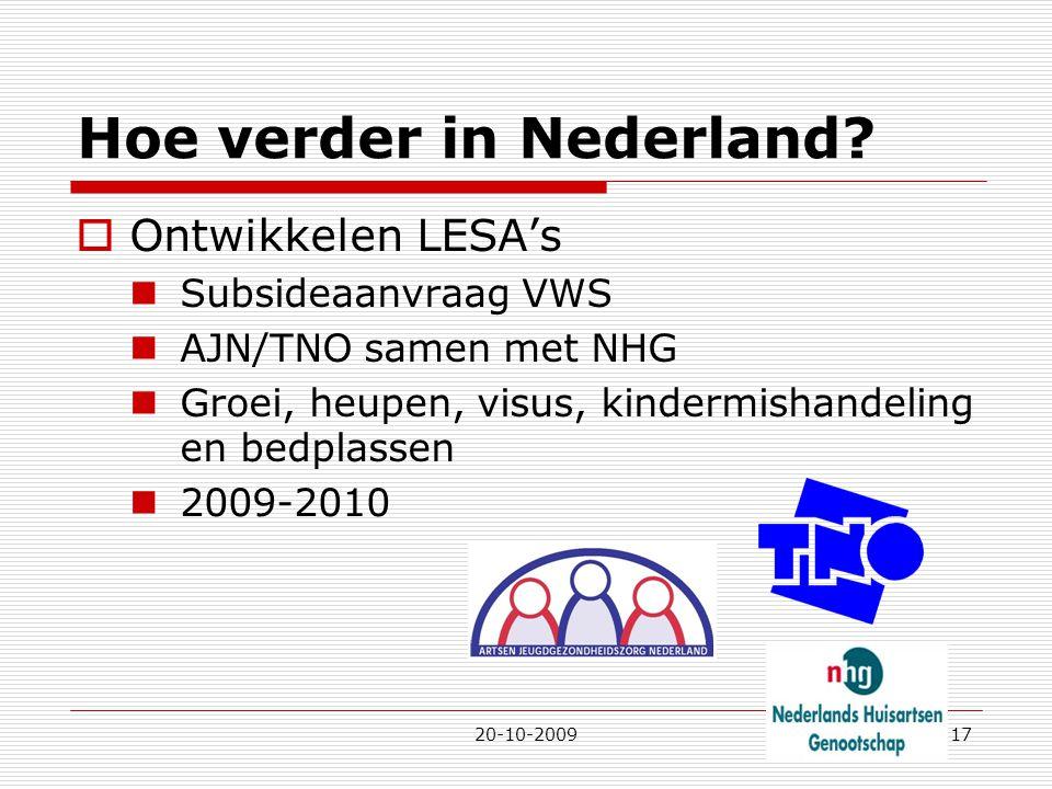 Hoe verder in Nederland