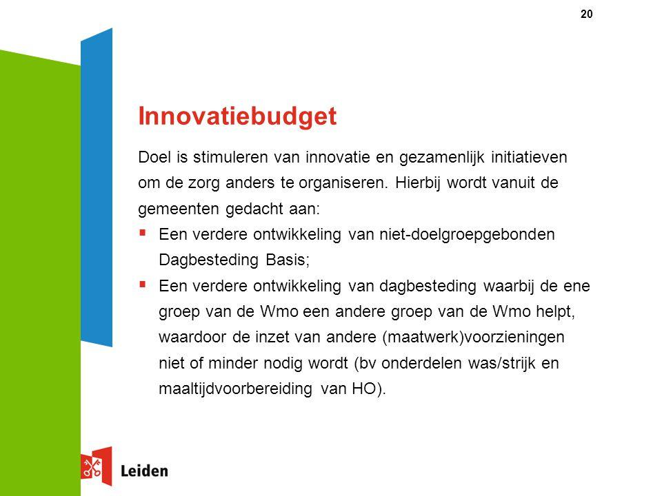 Innovatiebudget