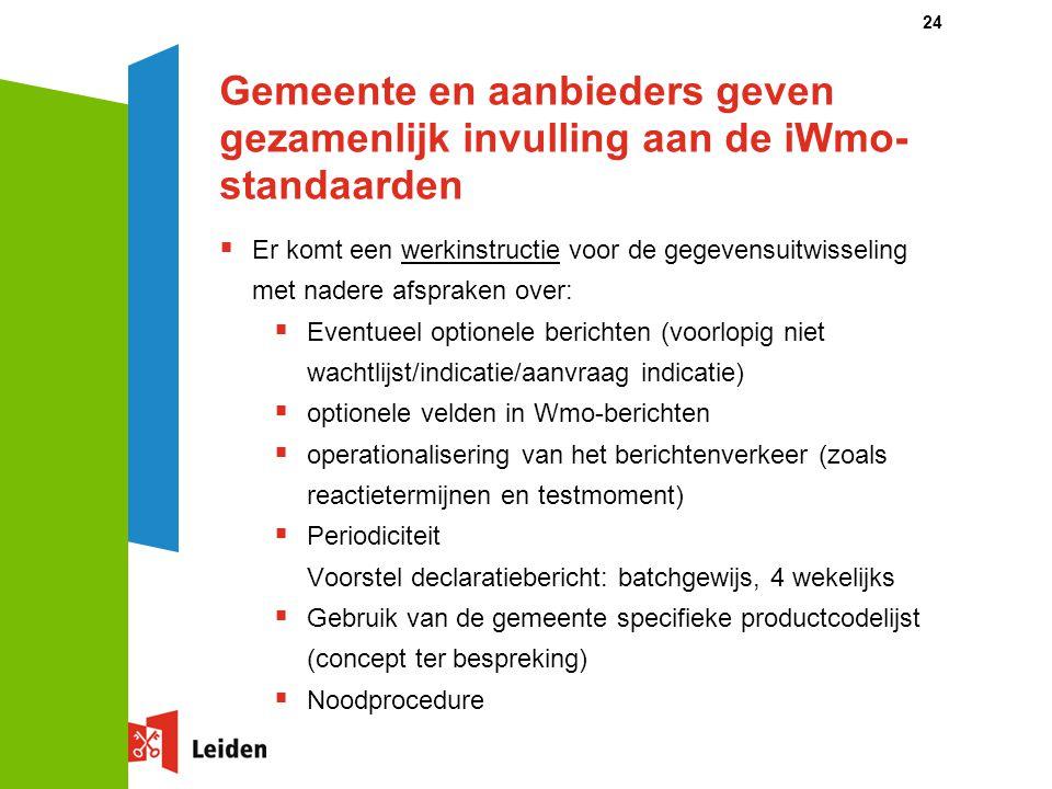 Gemeente en aanbieders geven gezamenlijk invulling aan de iWmo-standaarden