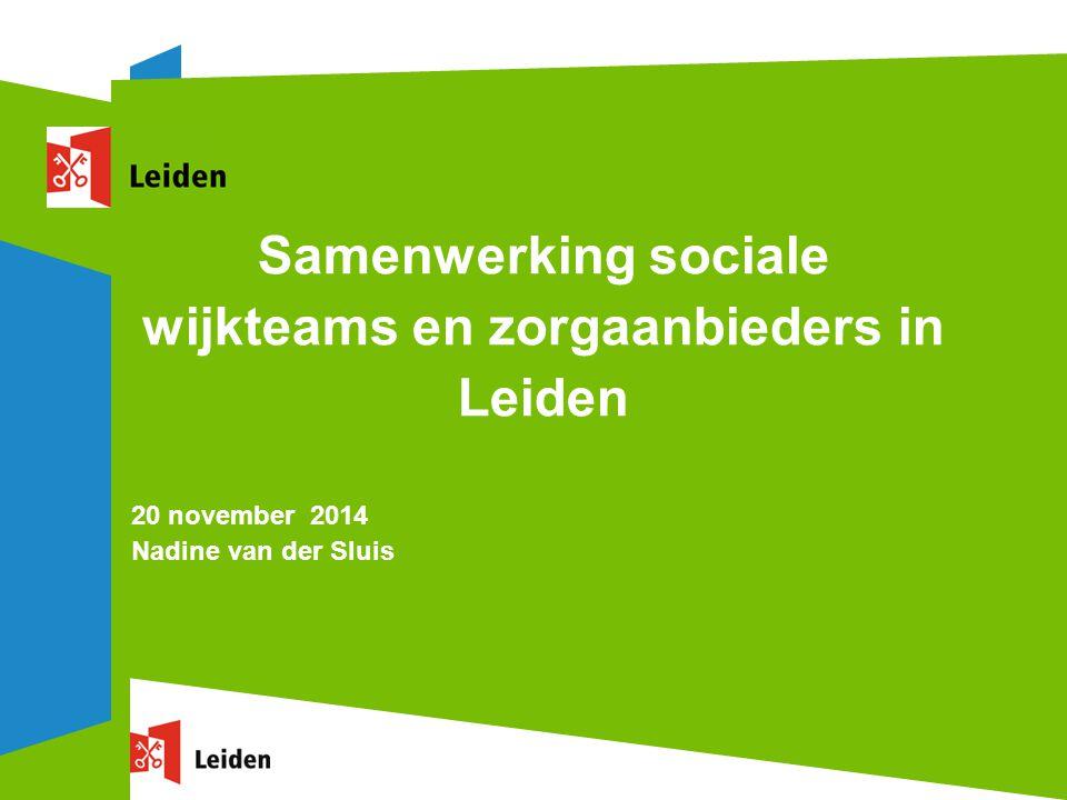 Samenwerking sociale wijkteams en zorgaanbieders in Leiden