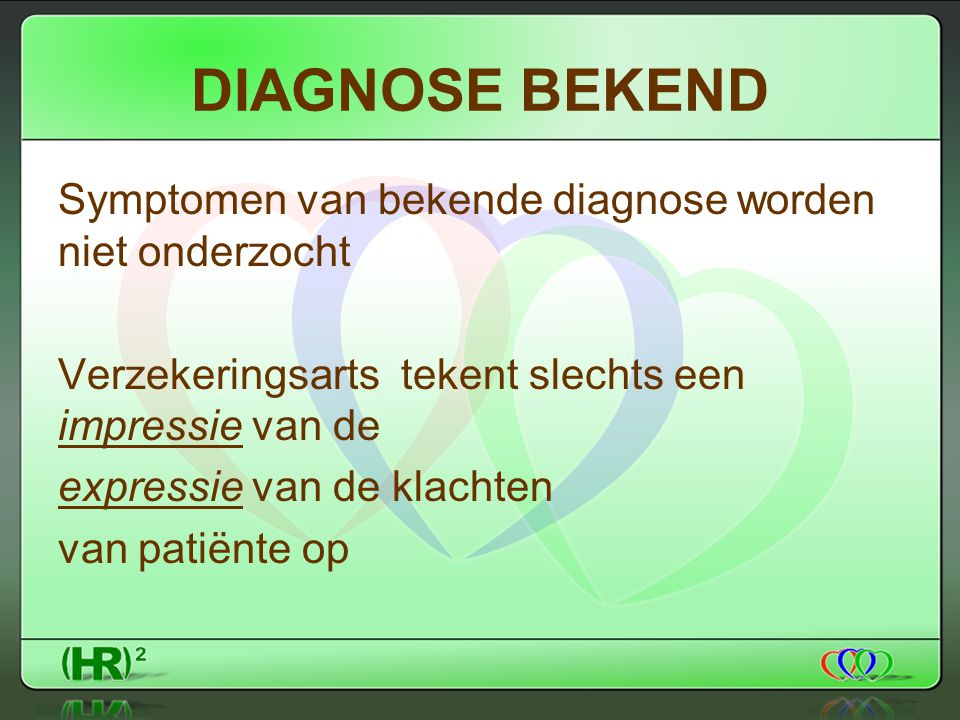 DIAGNOSE BEKEND