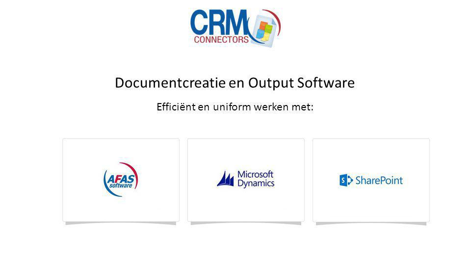 Documentcreatie en Output Software