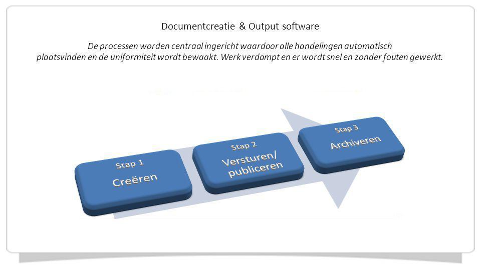 Creëren Archiveren Documentcreatie & Output software