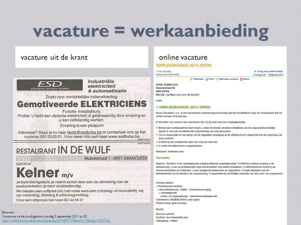 vacature = werkaanbieding