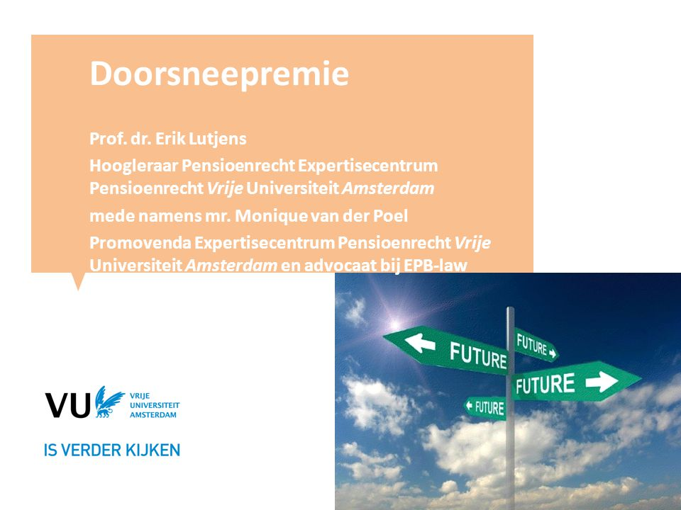 Doorsneepremie Prof. dr. Erik Lutjens