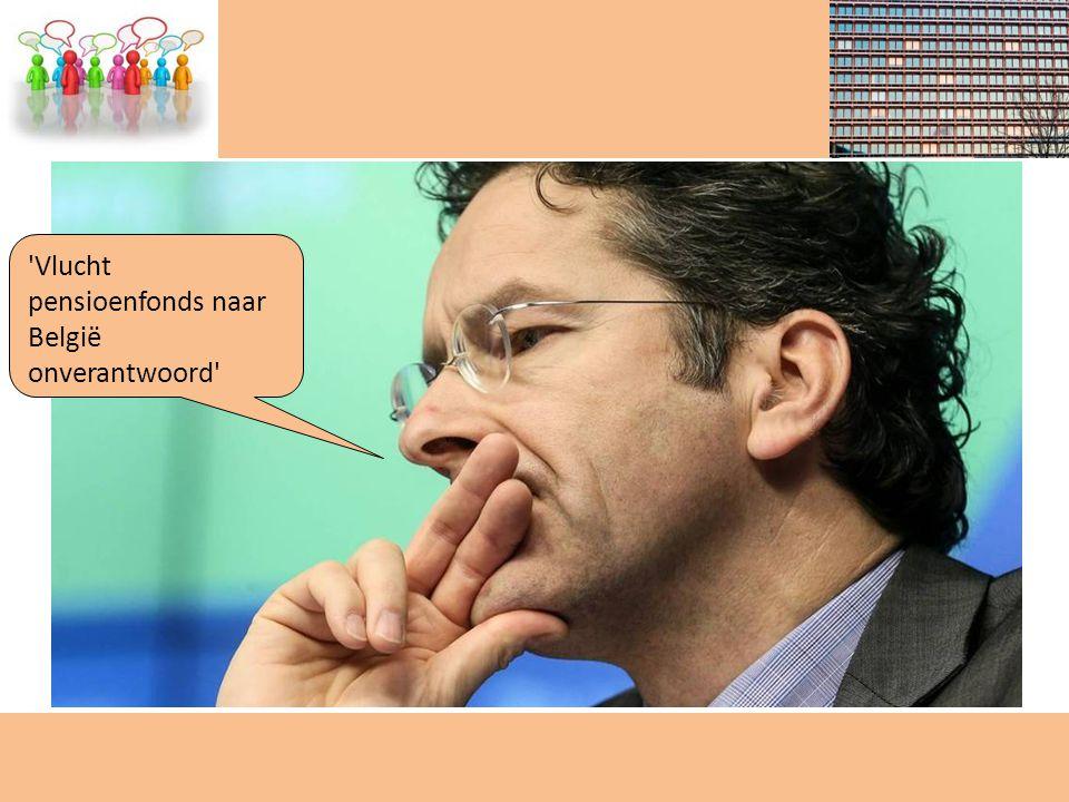 Vlucht pensioenfonds naar België onverantwoord