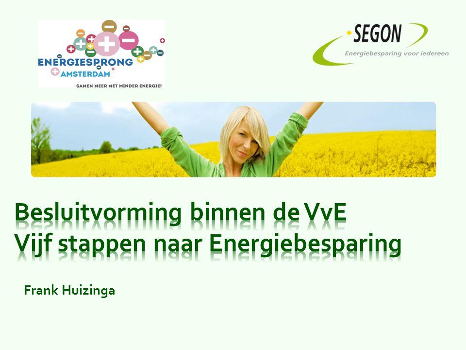 Besluitvorming binnen de VvE Vijf stappen naar Energiebesparing