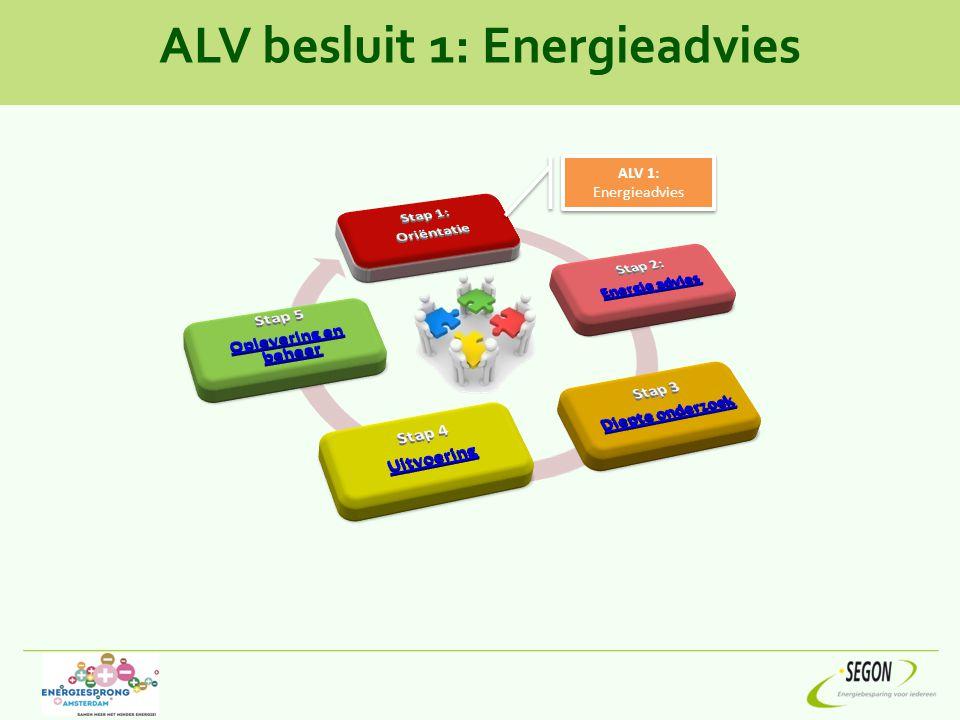 ALV besluit 1: Energieadvies