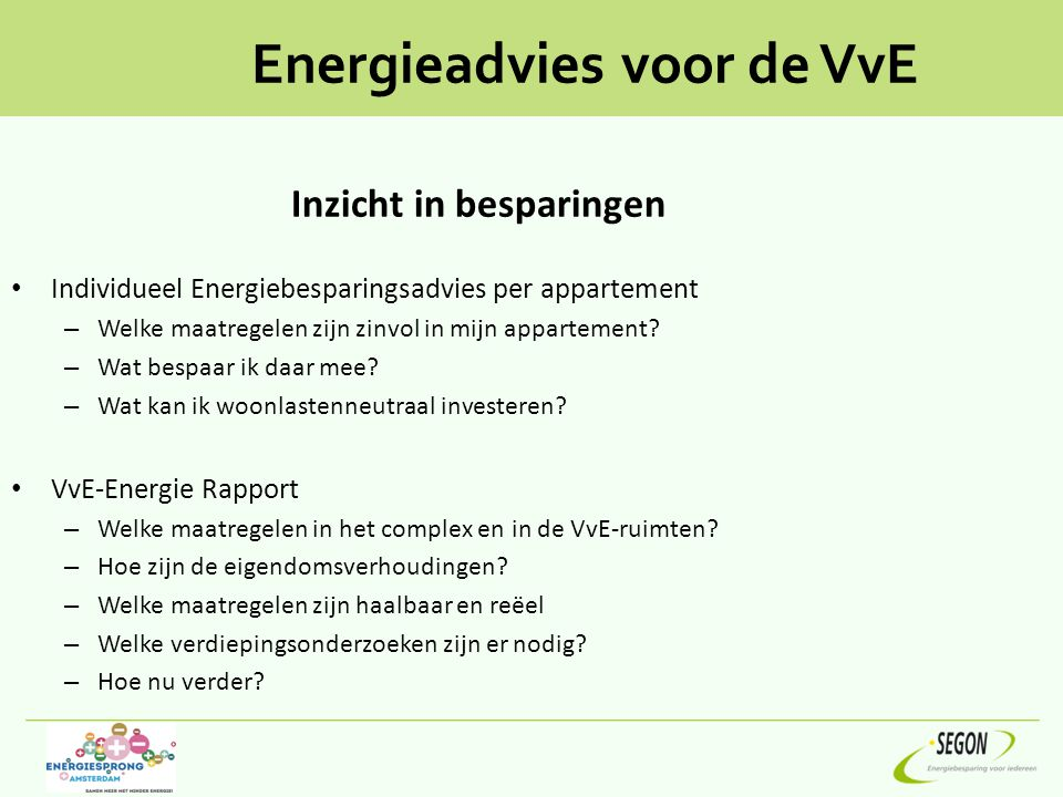 Energieadvies voor de VvE
