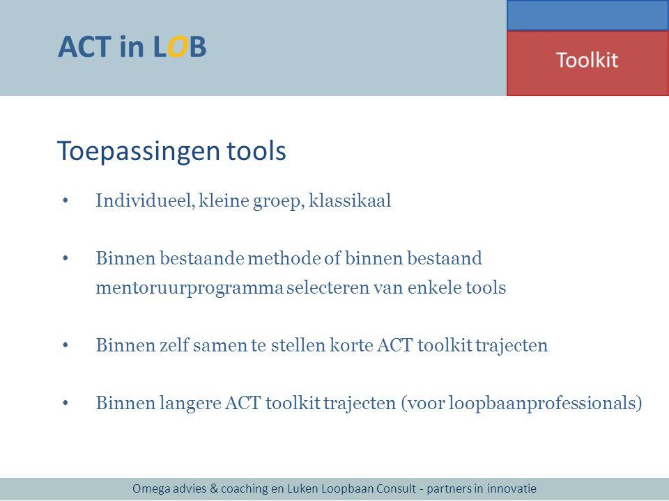 Toepassingen tools Individueel, kleine groep, klassikaal
