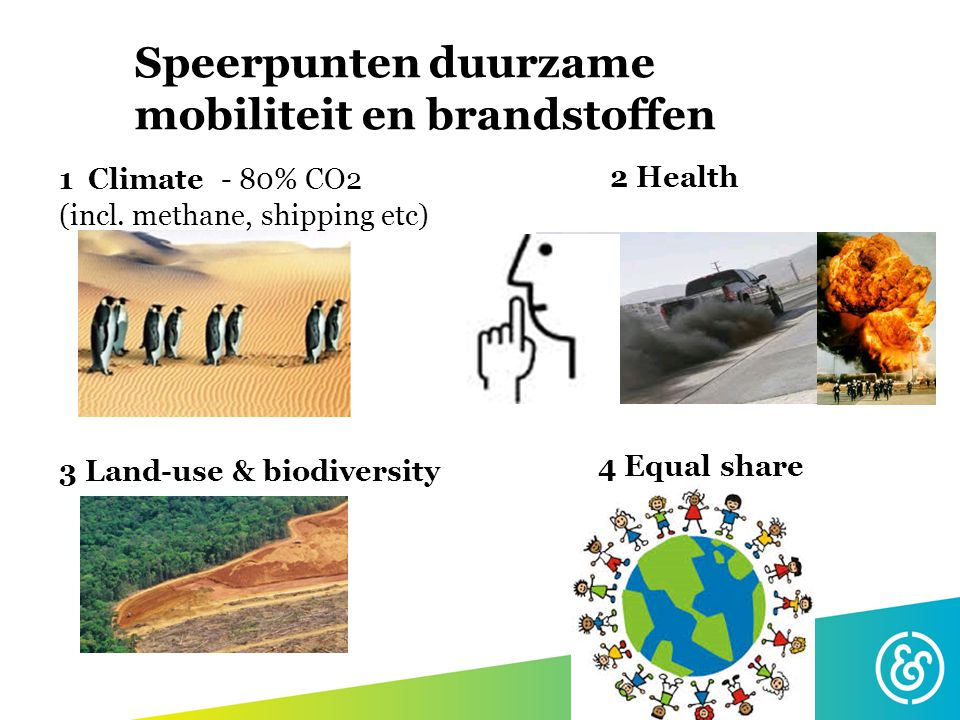 Speerpunten duurzame mobiliteit en brandstoffen