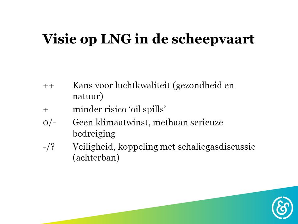 Visie op LNG in de scheepvaart
