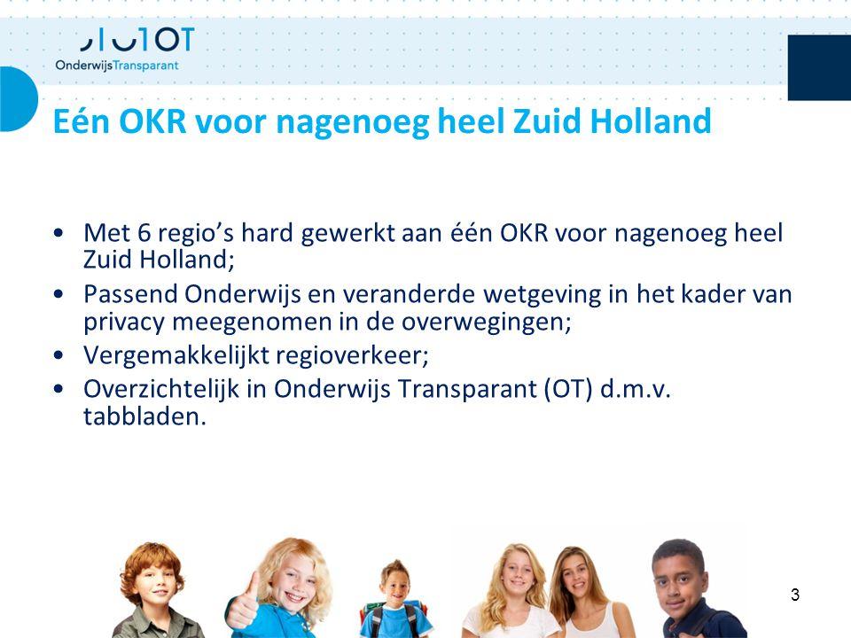 Eén OKR voor nagenoeg heel Zuid Holland