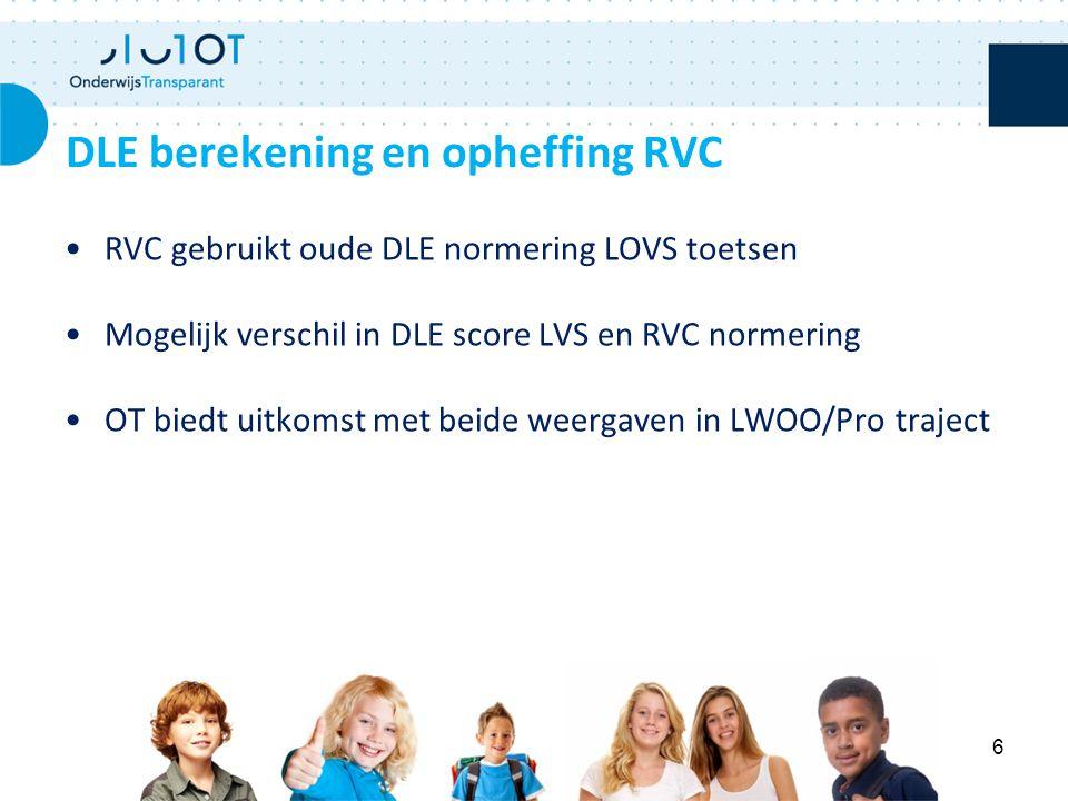 DLE berekening en opheffing RVC