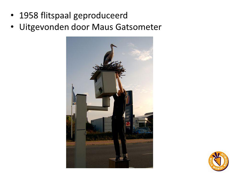 1958 flitspaal geproduceerd Uitgevonden door Maus Gatsometer