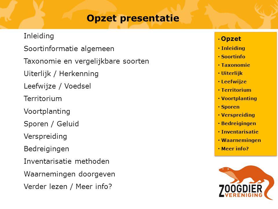 Opzet presentatie Inleiding Soortinformatie algemeen