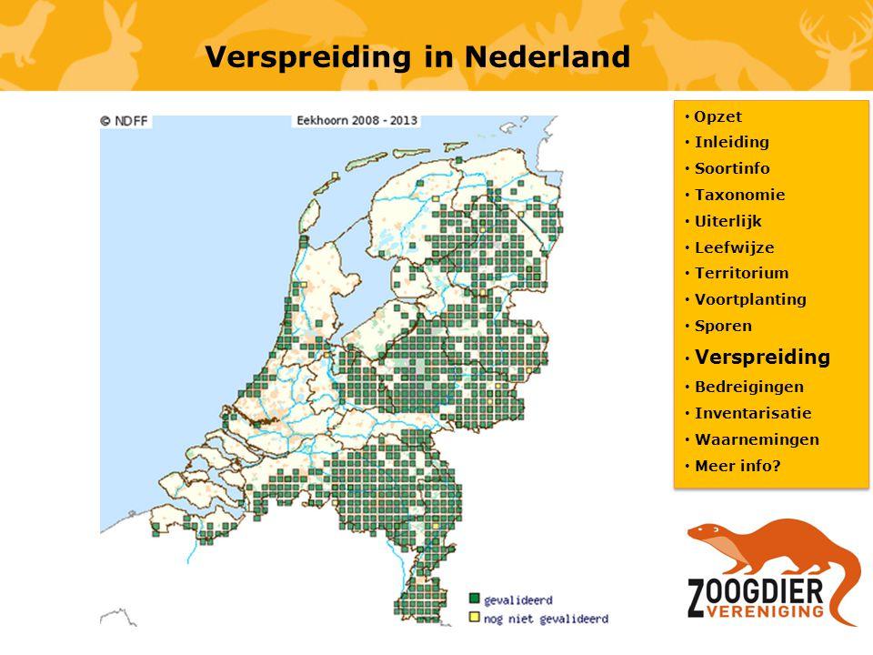 Verspreiding in Nederland