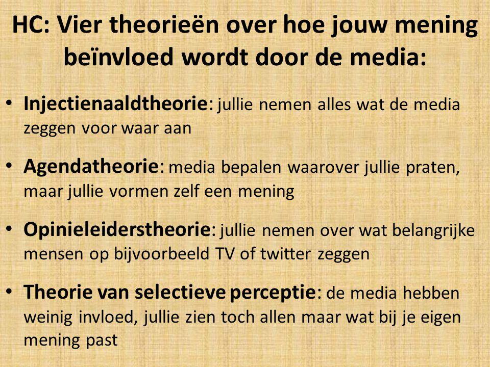 HC: Vier theorieën over hoe jouw mening beïnvloed wordt door de media:
